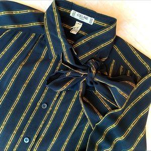 Vintage CELINE PARIS Silk Blouse